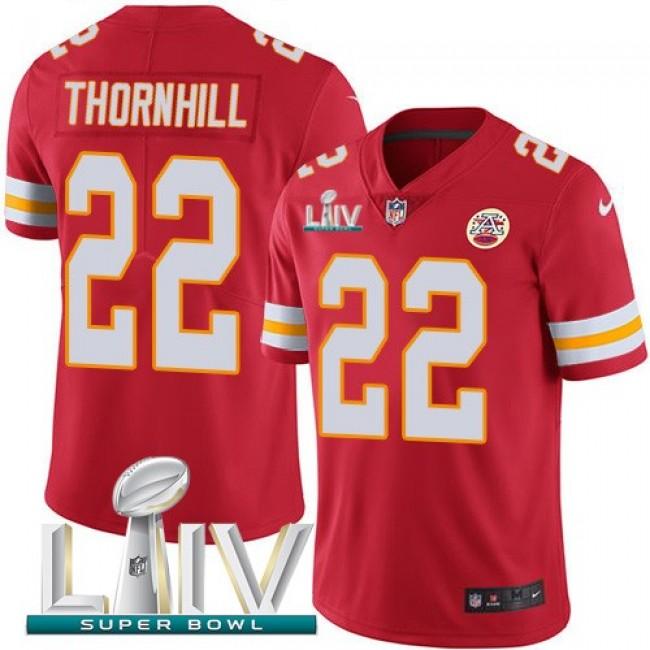 Nike Chiefs #22 Juan Thornhill Red Super Bowl LIV 2020 Team Color Men's Stitched NFL Vapor Untouchable Limited Jersey