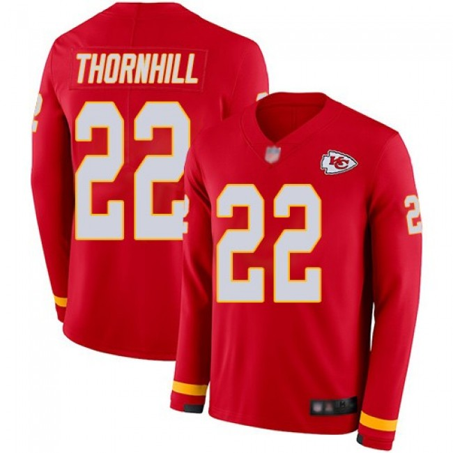 Nike Chiefs #22 Juan Thornhill Red Team Color Men's Stitched NFL Limited Therma Long Sleeve Jersey