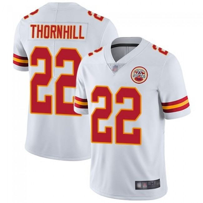 Nike Chiefs #22 Juan Thornhill White Men's Stitched NFL Vapor Untouchable Limited Jersey