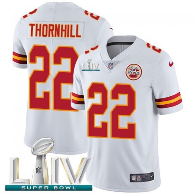 Nike Chiefs #22 Juan Thornhill White Super Bowl LIV 2020 Men's Stitched NFL Vapor Untouchable Limited Jersey