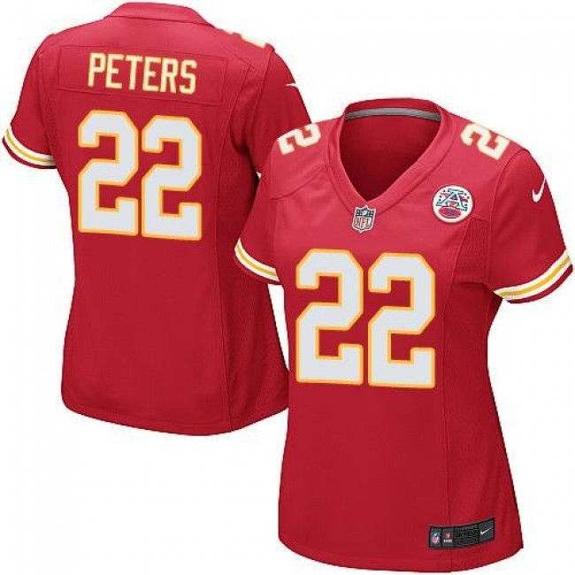 Women's Chiefs #22 Marcus Peters Red Team Color Stitched NFL Elite Jersey
