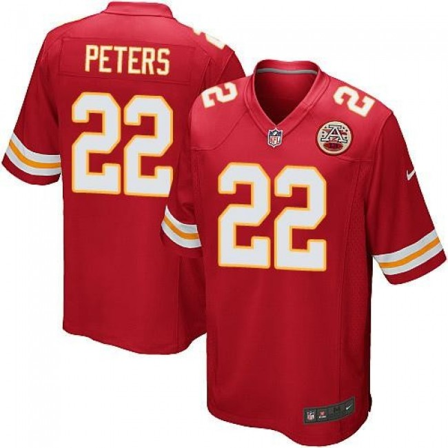 Kansas City Chiefs #22 Marcus Peters Red Team Color Youth Stitched NFL Elite Jersey