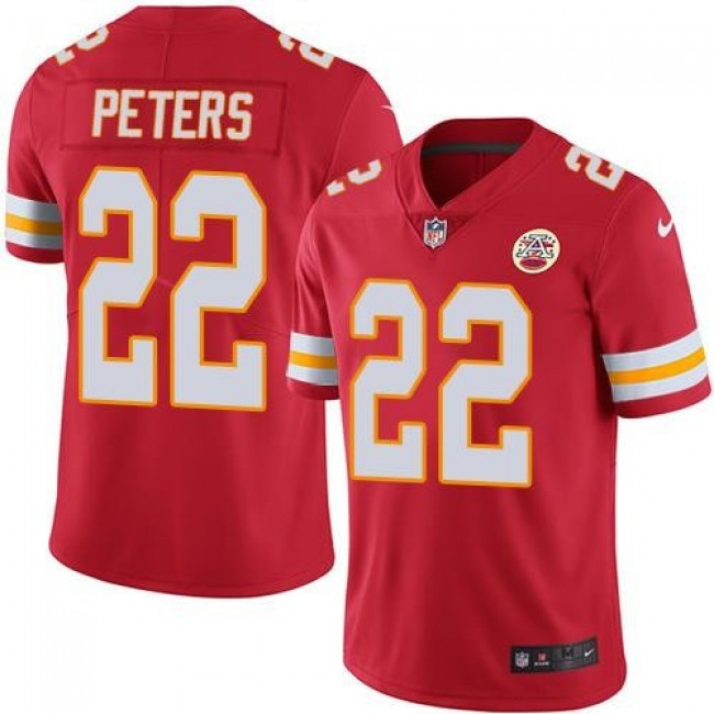 Kansas City Chiefs #22 Marcus Peters Red Team Color Youth Stitched NFL Vapor Untouchable Limited Jersey