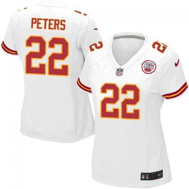 Women's Chiefs #22 Marcus Peters White Stitched NFL Elite Jersey