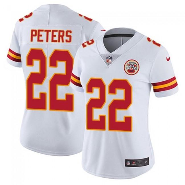 Women's Chiefs #22 Marcus Peters White Stitched NFL Vapor Untouchable Limited Jersey