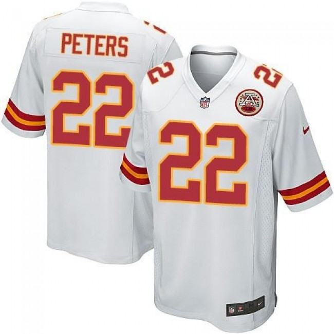Kansas City Chiefs #22 Marcus Peters White Youth Stitched NFL Elite Jersey