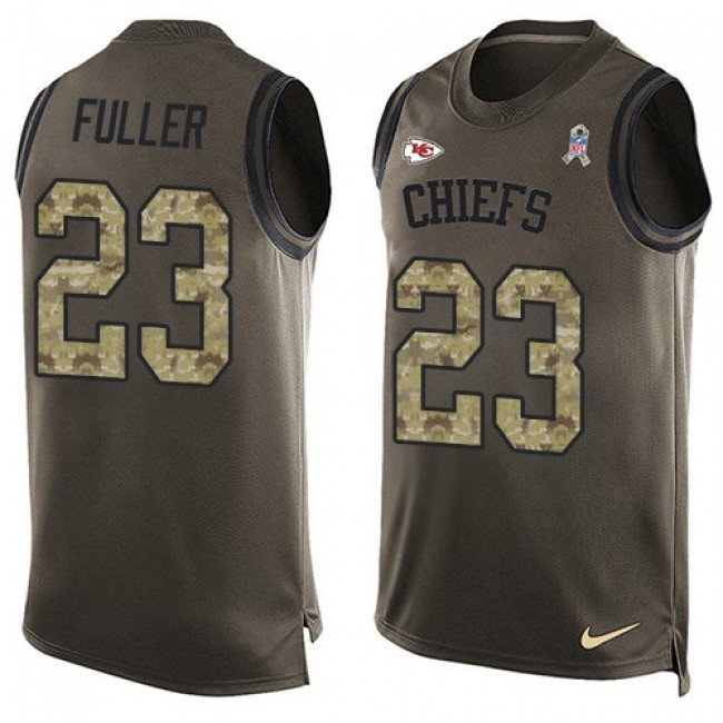 Nike Chiefs #23 Kendall Fuller Green Men's Stitched NFL Limited Salute To Service Tank Top Jersey