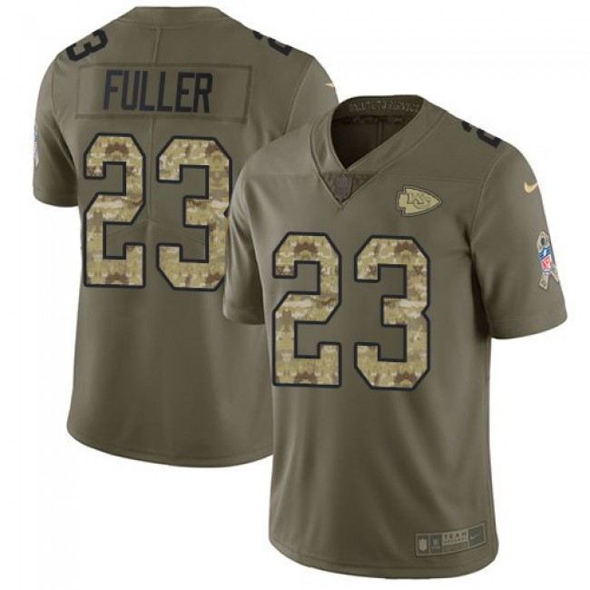 Nike Chiefs #23 Kendall Fuller Olive/Camo Men's Stitched NFL Limited 2017 Salute To Service Jersey