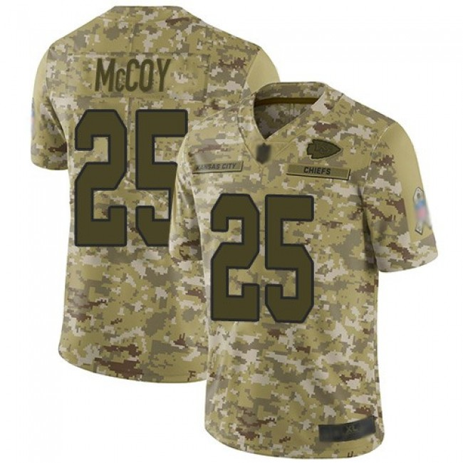 Nike Chiefs #25 LeSean McCoy Camo Men's Stitched NFL Limited 2018 Salute To Service Jersey