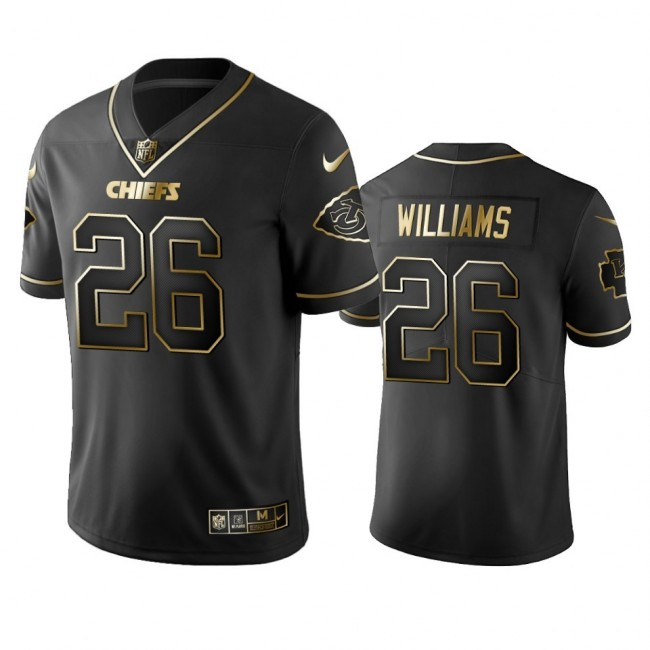 Nike Chiefs #26 Damien Williams Black Golden Limited Edition Stitched NFL Jersey