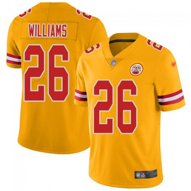 Nike Chiefs #26 Damien Williams Gold Men's Stitched NFL Limited Inverted Legend Jersey