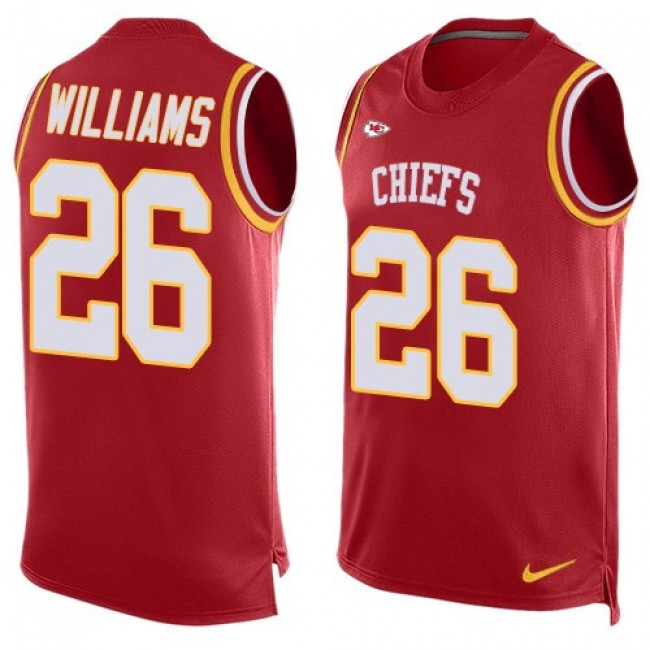 Nike Chiefs #26 Damien Williams Red Team Color Men's Stitched NFL Limited Tank Top Jersey
