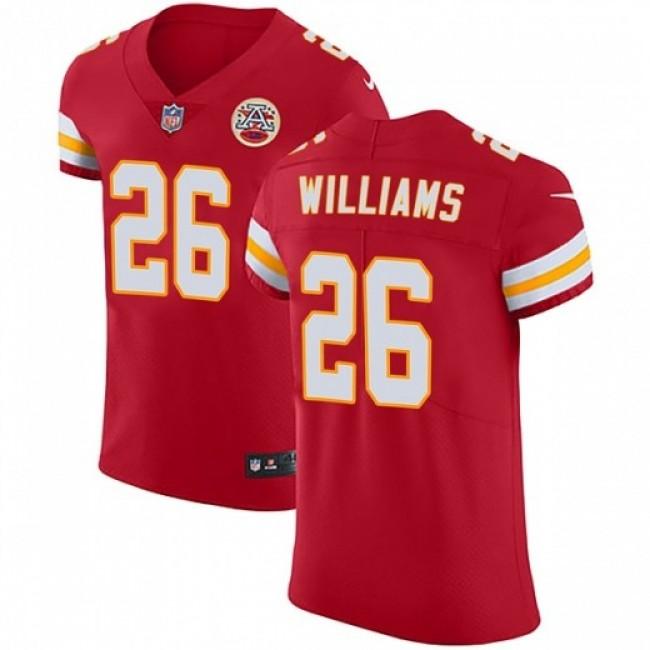 Nike Chiefs #26 Damien Williams Red Team Color Men's Stitched NFL Vapor Untouchable Elite Jersey