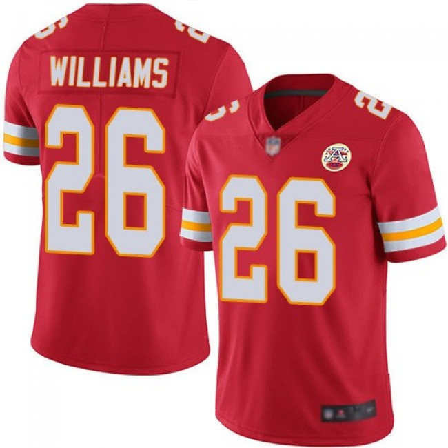 Nike Chiefs #26 Damien Williams Red Team Color Men's Stitched NFL Vapor Untouchable Limited Jersey