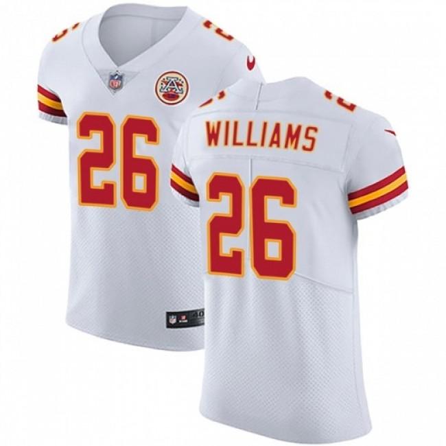 Nike Chiefs #26 Damien Williams White Men's Stitched NFL Vapor Untouchable Elite Jersey