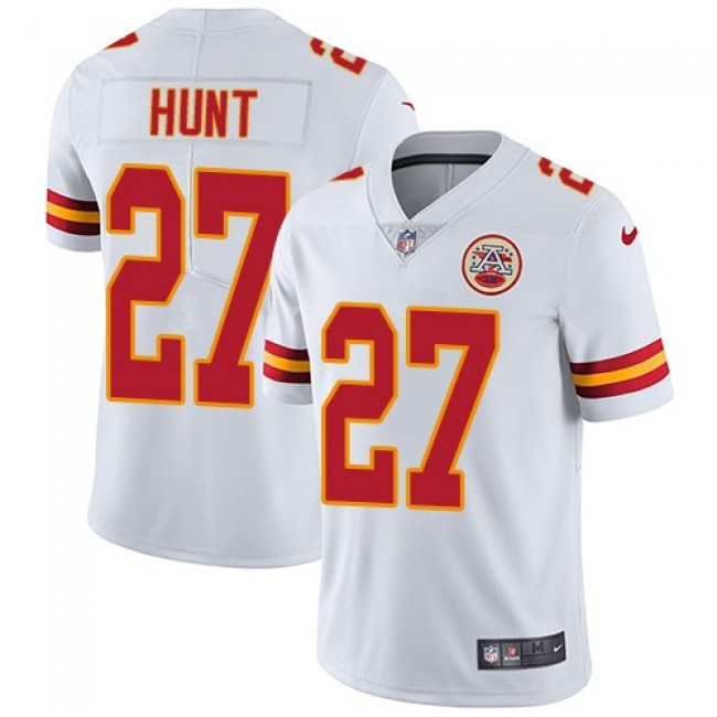 Kansas City Chiefs #27 Kareem Hunt White Youth Stitched NFL Vapor Untouchable Limited Jersey