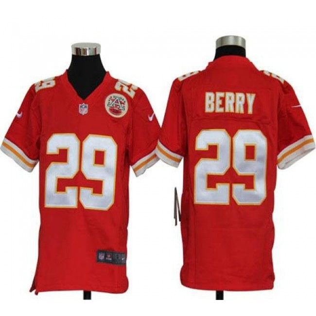 Kansas City Chiefs #29 Eric Berry Red Team Color Youth Stitched NFL Elite Jersey
