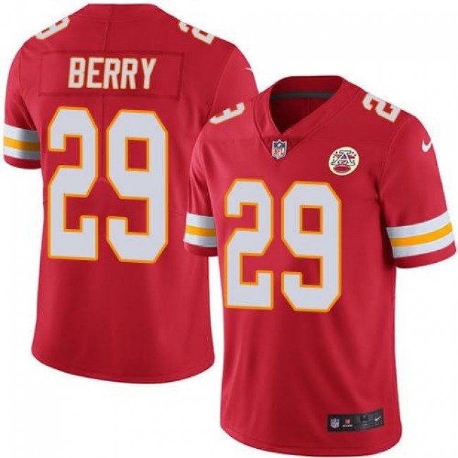Kansas City Chiefs #29 Eric Berry Red Team Color Youth Stitched NFL Vapor Untouchable Limited Jersey
