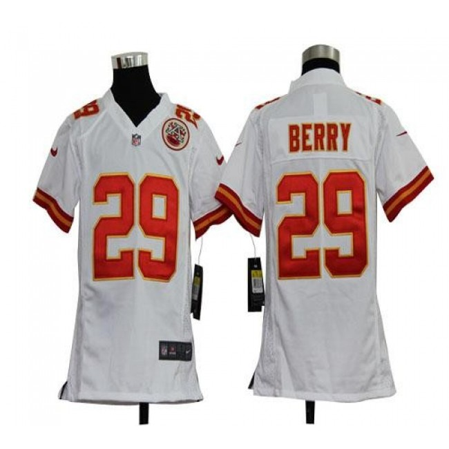 Kansas City Chiefs #29 Eric Berry White Youth Stitched NFL Elite Jersey