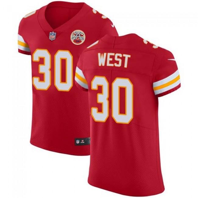 Nike Chiefs #30 Charcandrick West Red Team Color Men's Stitched NFL Vapor Untouchable Elite Jersey