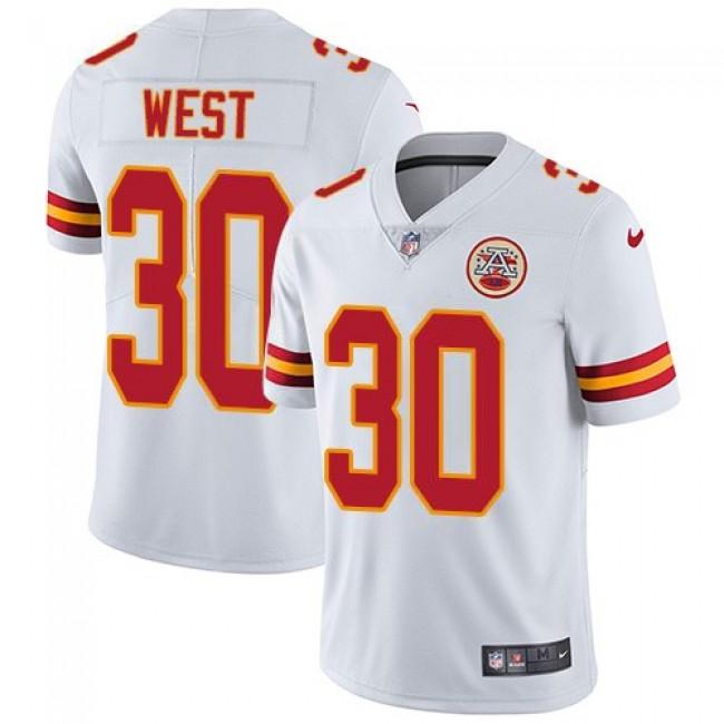 Nike Chiefs #30 Charcandrick West White Men's Stitched NFL Vapor Untouchable Limited Jersey