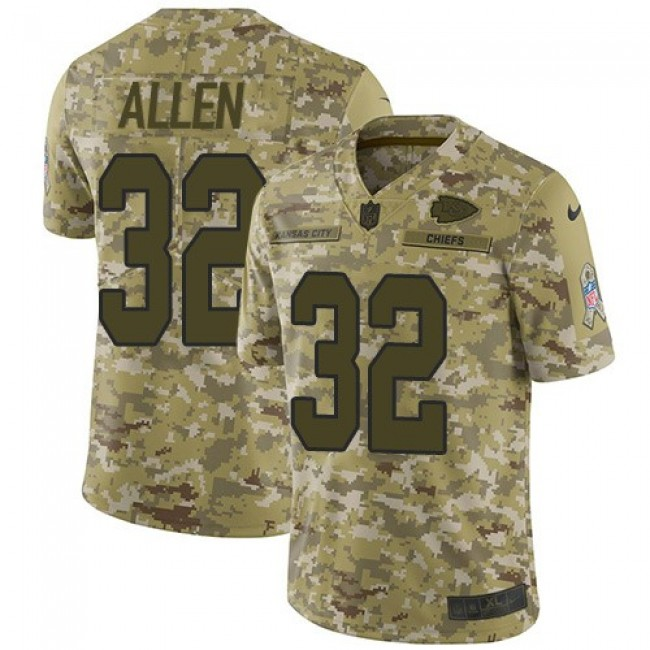 Nike Chiefs #32 Marcus Allen Camo Men's Stitched NFL Limited 2018 Salute To Service Jersey