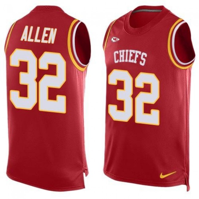 Nike Chiefs #32 Marcus Allen Red Team Color Men's Stitched NFL Limited Tank Top Jersey
