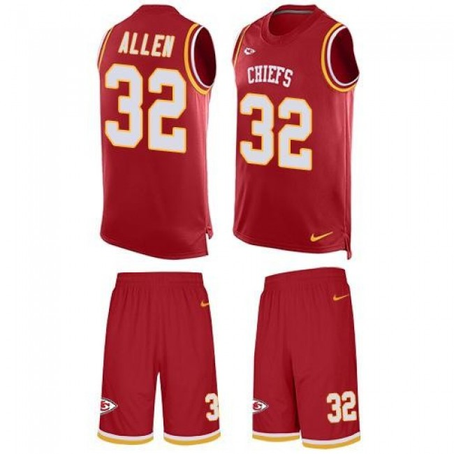 Nike Chiefs #32 Marcus Allen Red Team Color Men's Stitched NFL Limited Tank Top Suit Jersey