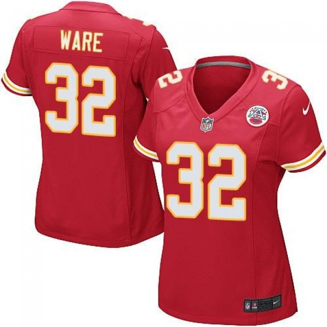 Women's Chiefs #32 Spencer Ware Red Team Color Stitched NFL Elite Jersey