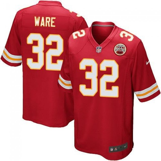 Kansas City Chiefs #32 Spencer Ware Red Team Color Youth Stitched NFL Elite Jersey