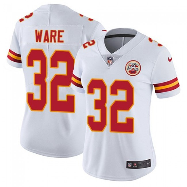 Women's Chiefs #32 Spencer Ware White Stitched NFL Vapor Untouchable Limited Jersey