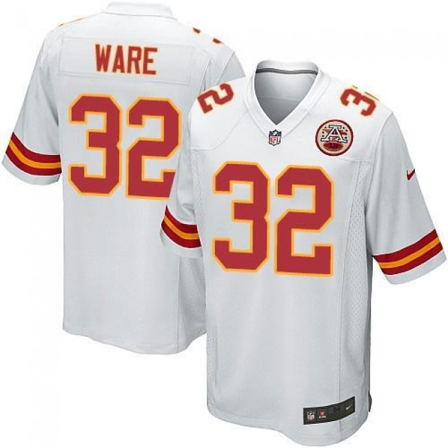 Kansas City Chiefs #32 Spencer Ware White Youth Stitched NFL Elite Jersey