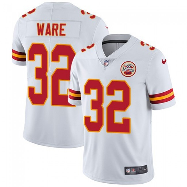 Kansas City Chiefs #32 Spencer Ware White Youth Stitched NFL Vapor Untouchable Limited Jersey