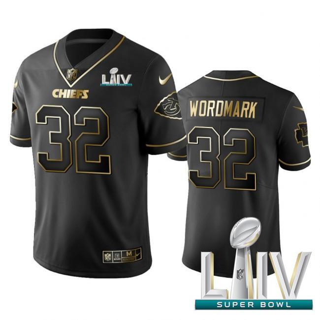 Nike Chiefs #32 Tyrann Mathieu Black Golden Super Bowl LIV 2020 Limited Edition Stitched NFL Jersey