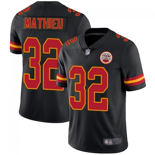Nike Chiefs #32 Tyrann Mathieu Black Men's Stitched NFL Limited Rush Jersey