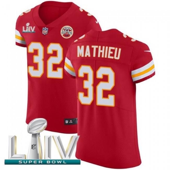 Nike Chiefs #32 Tyrann Mathieu Red Super Bowl LIV 2020 Team Color Men's Stitched NFL Vapor Untouchable Elite Jersey