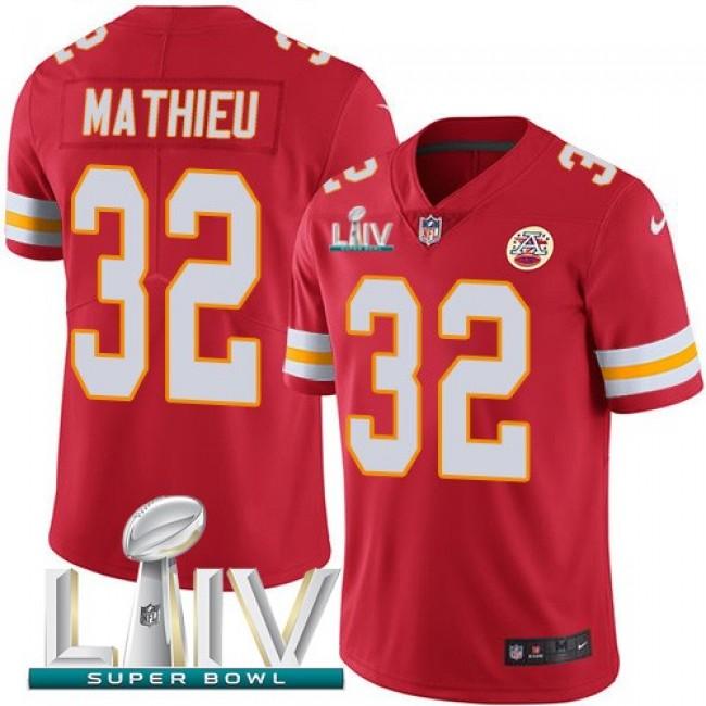 Nike Chiefs #32 Tyrann Mathieu Red Super Bowl LIV 2020 Team Color Men's Stitched NFL Vapor Untouchable Limited Jersey