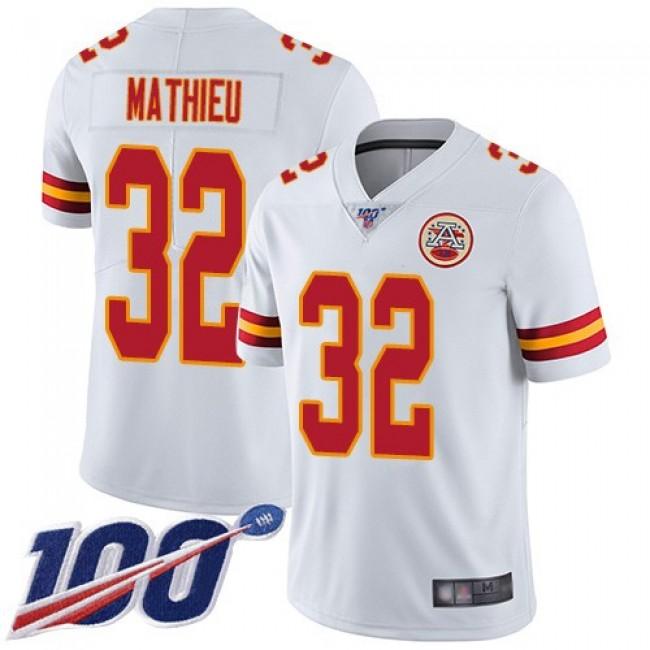 Nike Chiefs #32 Tyrann Mathieu White Men's Stitched NFL 100th Season Vapor Limited Jersey
