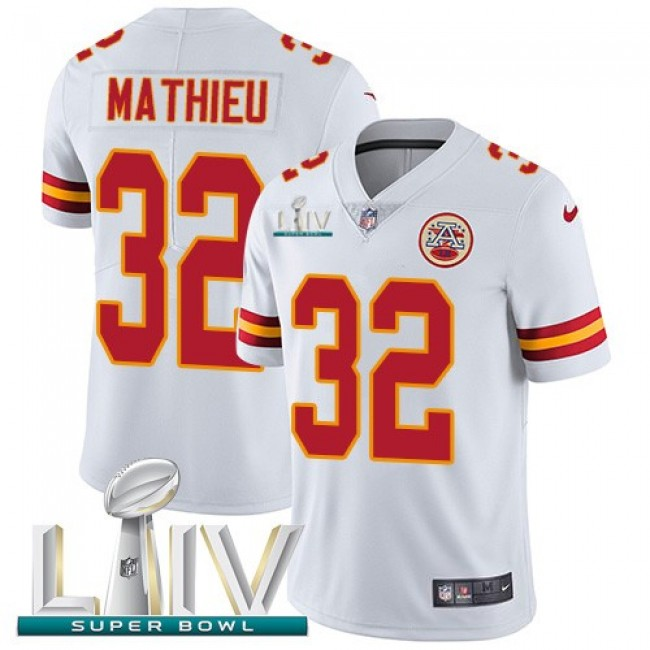 Nike Chiefs #32 Tyrann Mathieu White Super Bowl LIV 2020 Men's Stitched NFL Vapor Untouchable Limited Jersey