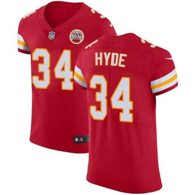 Nike Chiefs #34 Carlos Hyde Red Team Color Men's Stitched NFL Vapor Untouchable Elite Jersey