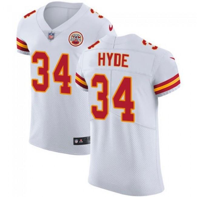 Nike Chiefs #34 Carlos Hyde White Men's Stitched NFL Vapor Untouchable Elite Jersey