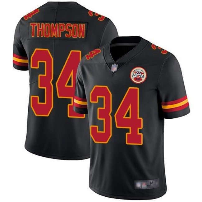 Nike Chiefs #34 Darwin Thompson Black Men's Stitched NFL Limited Rush Jersey
