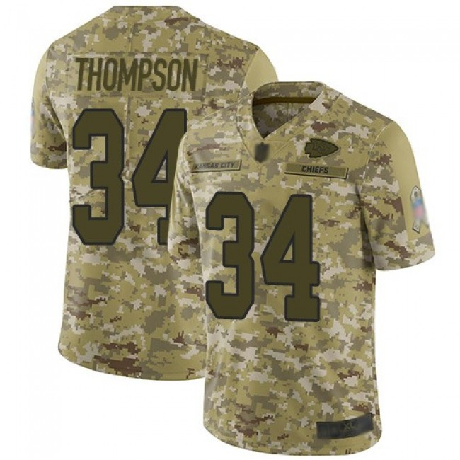 Nike Chiefs #34 Darwin Thompson Camo Men's Stitched NFL Limited 2018 Salute To Service Jersey