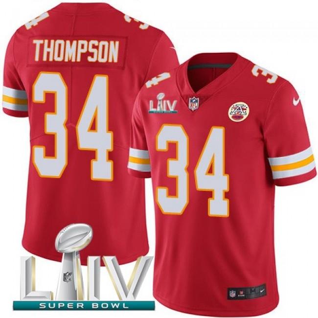 Nike Chiefs #34 Darwin Thompson Red Super Bowl LIV 2020 Team Color Men's Stitched NFL Vapor Untouchable Limited Jersey