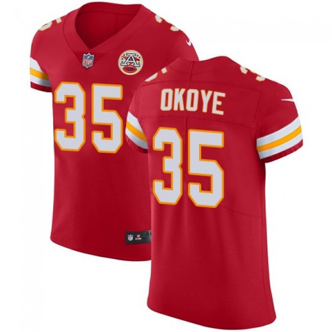 Nike Chiefs #35 Christian Okoye Red Team Color Men's Stitched NFL Vapor Untouchable Elite Jersey