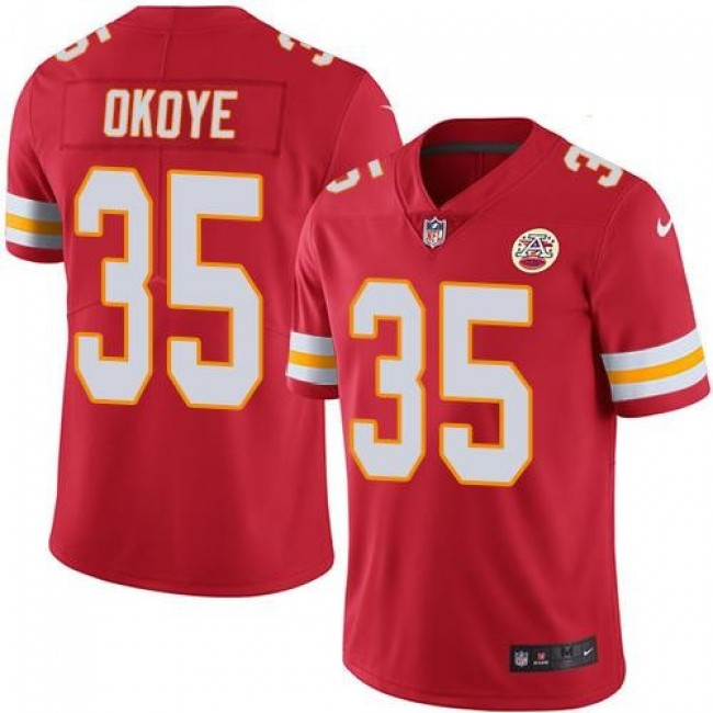 Nike Chiefs #35 Christian Okoye Red Team Color Men's Stitched NFL Vapor Untouchable Limited Jersey
