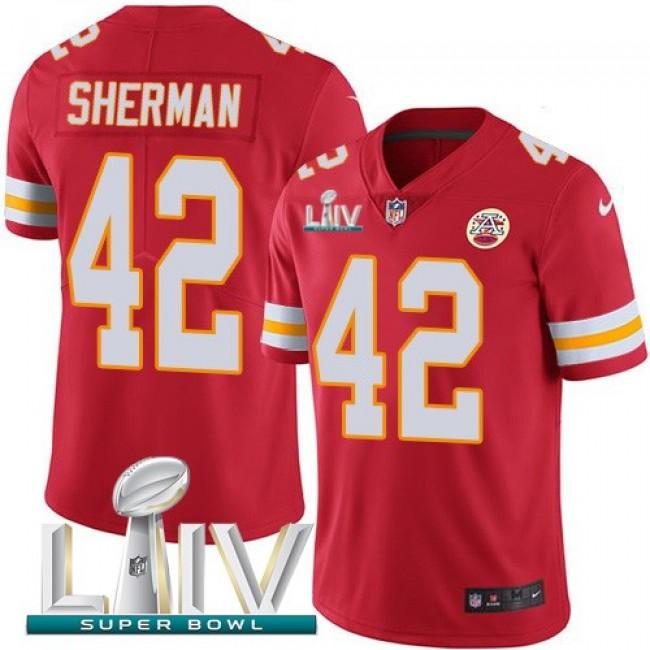 Nike Chiefs #42 Anthony Sherman Red Super Bowl LIV 2020 Team Color Men's Stitched NFL Vapor Untouchable Limited Jersey