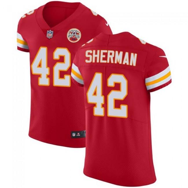 Nike Chiefs #42 Anthony Sherman Red Team Color Men's Stitched NFL Vapor Untouchable Elite Jersey