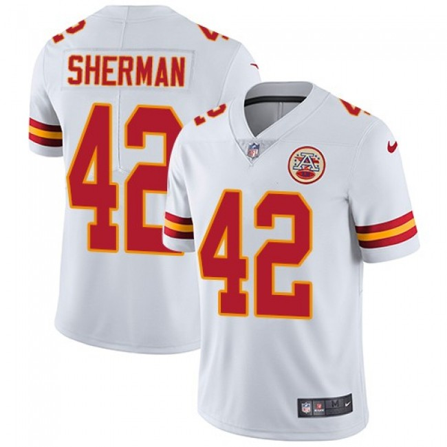 Nike Chiefs #42 Anthony Sherman White Men's Stitched NFL Vapor Untouchable Limited Jersey