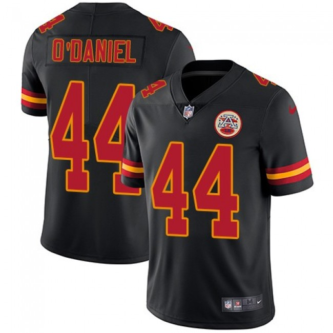 Nike Chiefs #44 Dorian O'Daniel Black Men's Stitched NFL Limited Rush Jersey